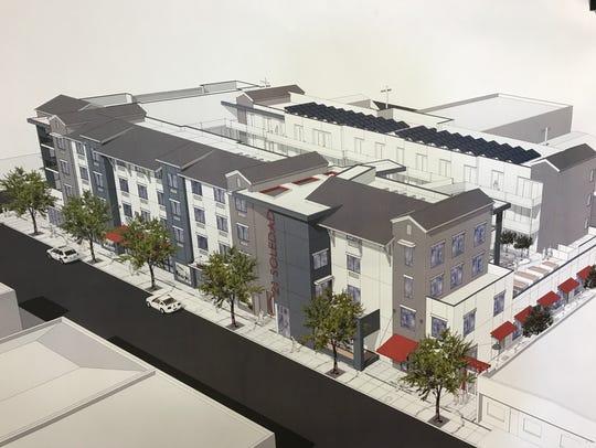 Un plano representativo del proyecto de comunidad de viviendas asequibles de MidPen Housing que se construirá en 21 Soledad St.