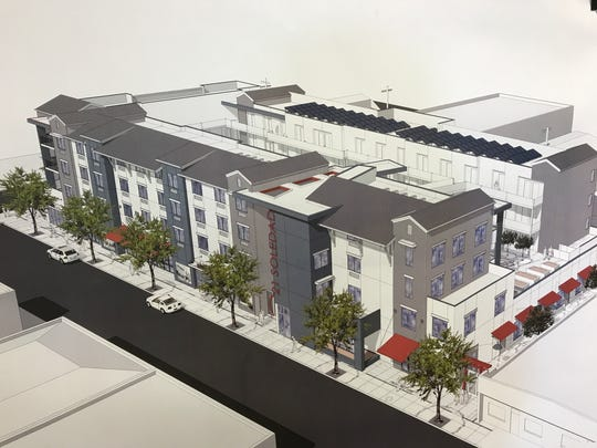 A rendering of the MidPen Housing project affordable
