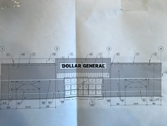 A sketch of the new Dollar General proposed for 2209