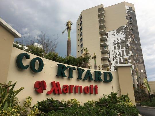 The Courtyard Marriott Isla Verde in San Juan lost