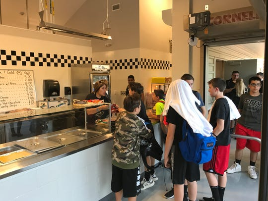 """The new """"snack shack"""" opened for Cedar Grove fans at"""