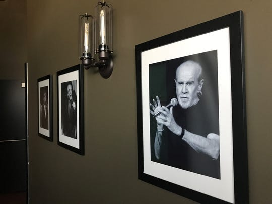 Photos of George Carlin and other comedic legends line