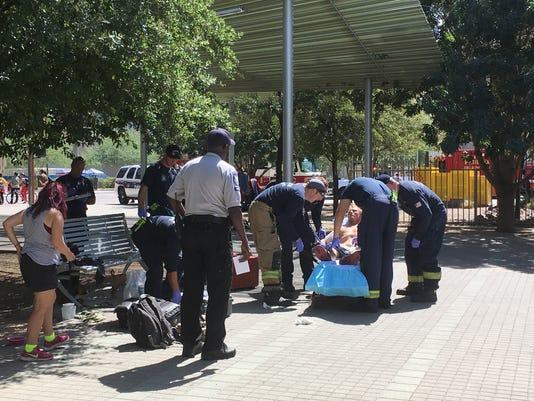 Man stabbed at light rail station