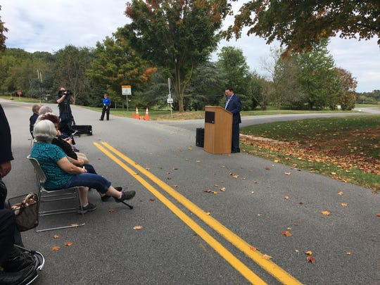 Blue Ridge Community College celebrated its 50th anniversary on Friday by unveiling a new road dedication.