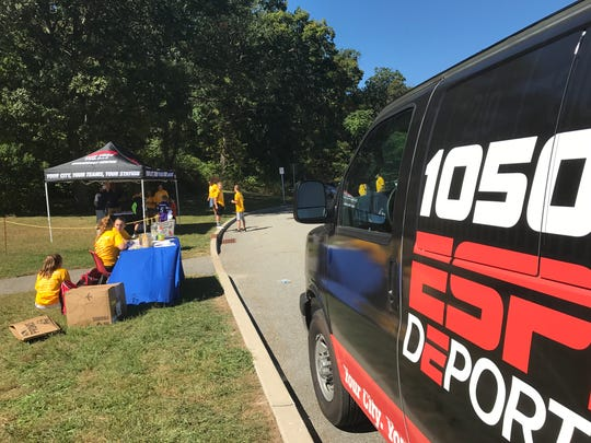 "ESPN Radio helped sponsor the ""Kickin' it for a Cure"""