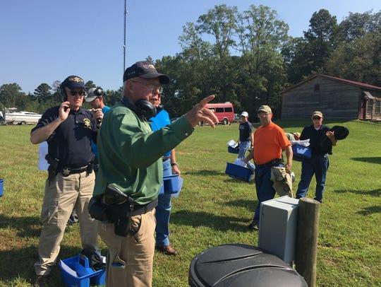 Clyde Morgan trains church security teams at Precision