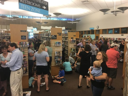 Hundreds came to the Chappaqua Library to get their