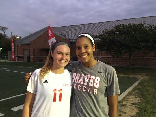 Anna Podojil, left, and Morgan Jackson are top scorers