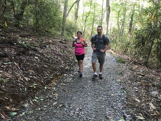 Hikers enjoy strolling along the new, shaded Skyline Trail.