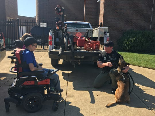 10-year-old Josh Banes was named Junior BCPD K-9 Officer.