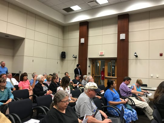 The forum drew an attentive crowd to the Canton Township
