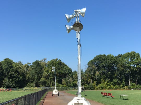 Portable lights arrived at Keyport High School's football