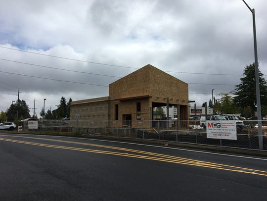 The new Dutch Bros. Coffee building under construction