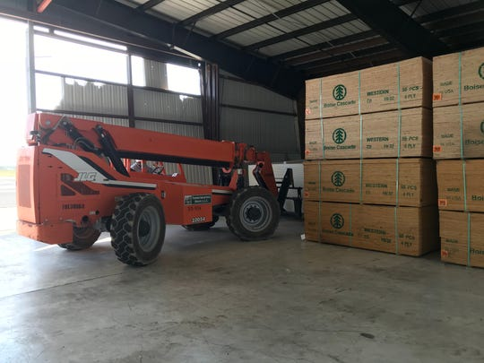 More than 200 tons of building materials were driven