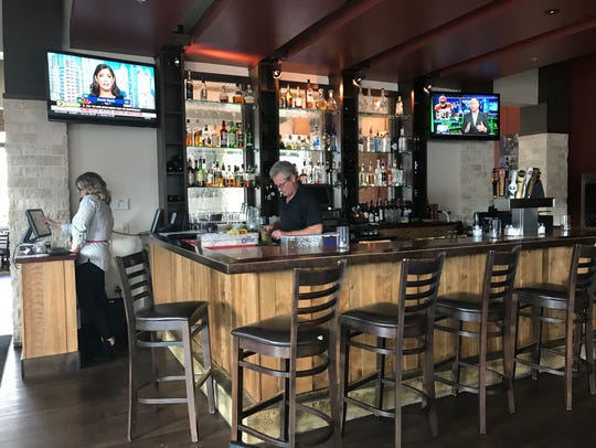 North Star American Bistro's bar area features TVs