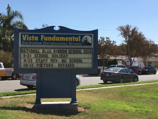 Vista Elementary School in Simi Valley is where Susan