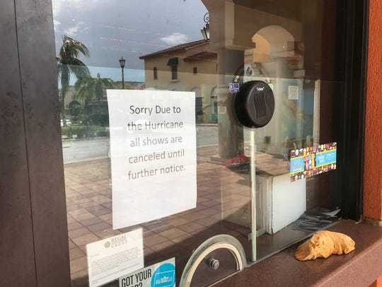 The movie theater at Coconut Point remains closed due