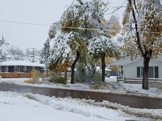 An Oct. 2-3 snowstorm socked it to the city with 13 inches, followed by 4.5 inches, causing trees to break and power lines to fall.