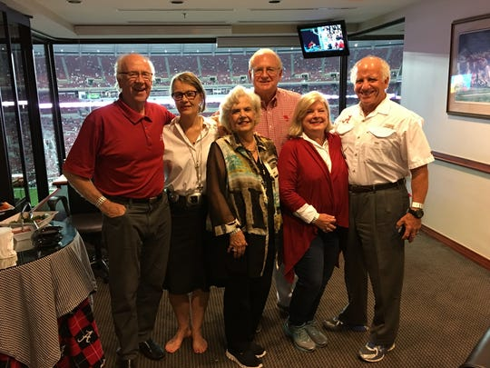 Photo- L-R- David Larson and Sandra Larson, Colley and Mickey Griffin, and Donna and Jim Farrior.