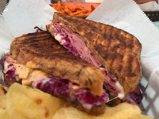 The Reuben sandwich at The Elf in the Oak was the perfect