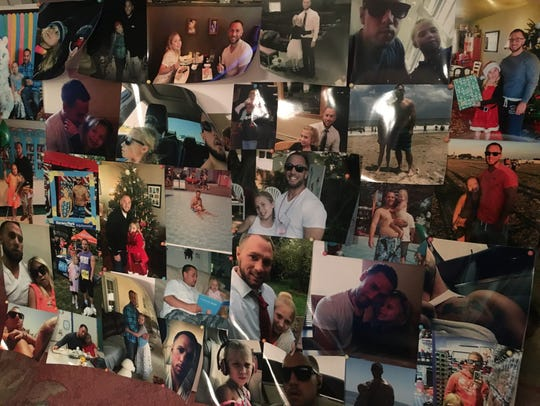 Curtis Center's family created photo boards to display