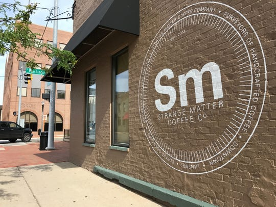Strange Matter Coffee, located on Washington Square in downtown Lansing, appears in a Lansing State Journal file photo.
