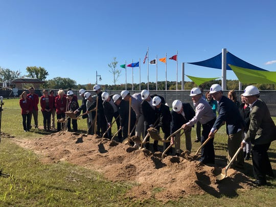 Officials broke ground in October 2017 on the Riverlife