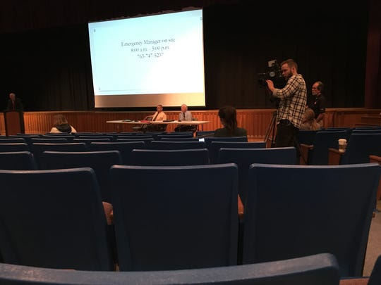 Turnout was light for a town hall sponsored by the emergency manager of Muncie Community Schools on Thursday night.