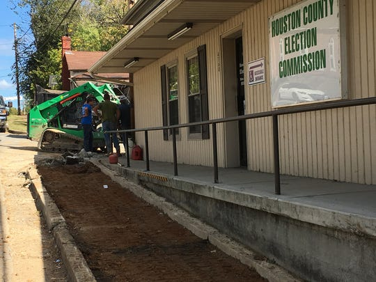 The final portion of sidewalks in Phase IV of Erin's