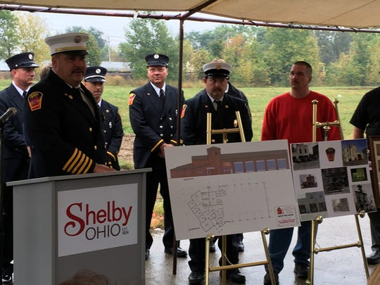 Shelby fire Chief Michael Thompson talked Friday morning