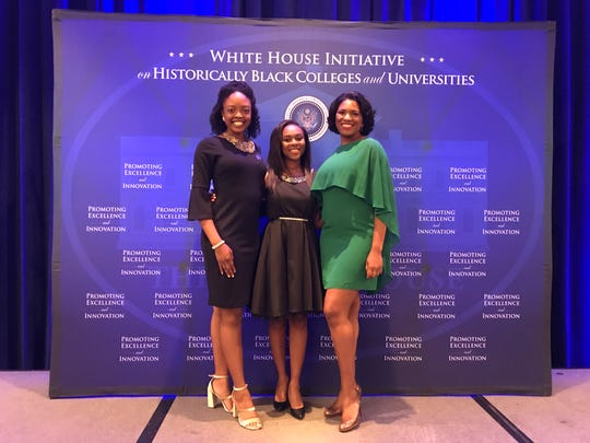Three FAMU students were chosen as White House All-Stars. Pictured above are: Imani Cooper, Ekaya Ellis and Alexandria Washington.