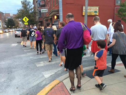 A mile in go-go boots: Noll walks for his mother