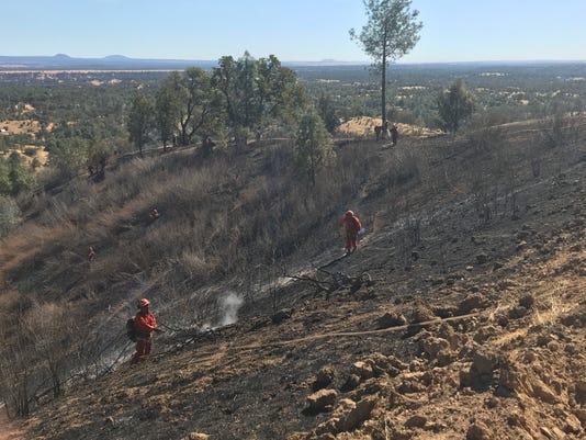 Jones Fire forward progress stopped