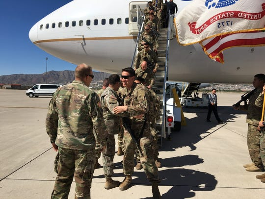 Happy soldiers from 1st Brigade returned from Afghanistan