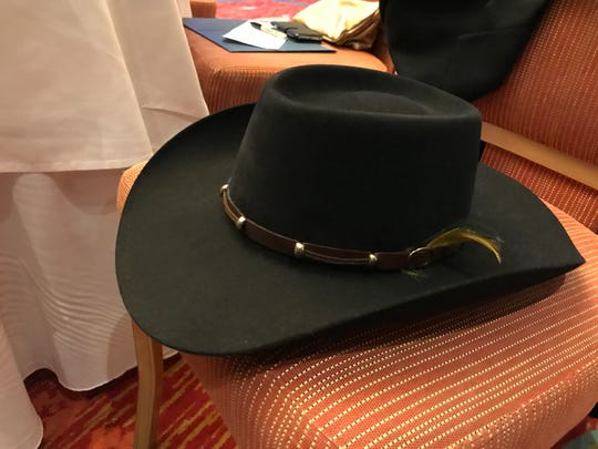 Asheville City Councilman candidate Jeremy Goldstein says he's been wearing this Australian cowboy hat for 25 years.