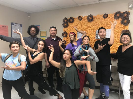 Dancers from Dancing Earth held a workshop with students from Oceanview Middle School on Oct. 9, 2017.