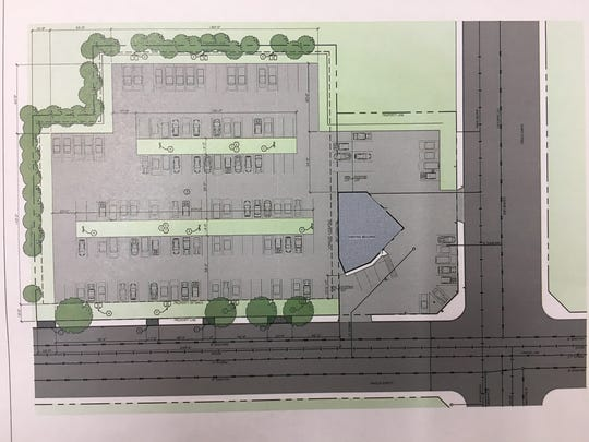 A rendering of Dan Goben's proposed expansion would expand the business along East Mason Street, running horizontally, just west of Baird Street.