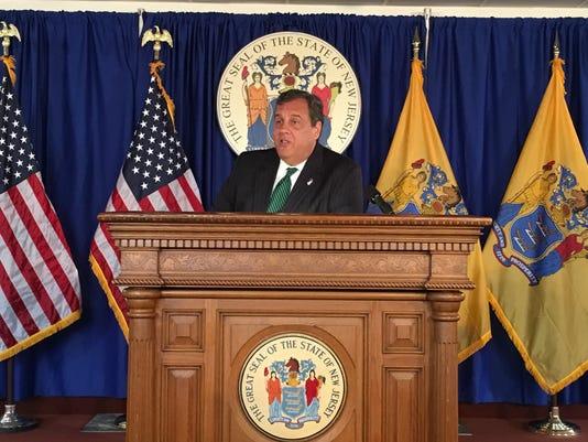 Gov. Chris Christie news conference