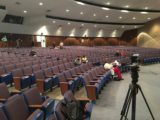 Sparse attendance at a town hall forum last Thursday
