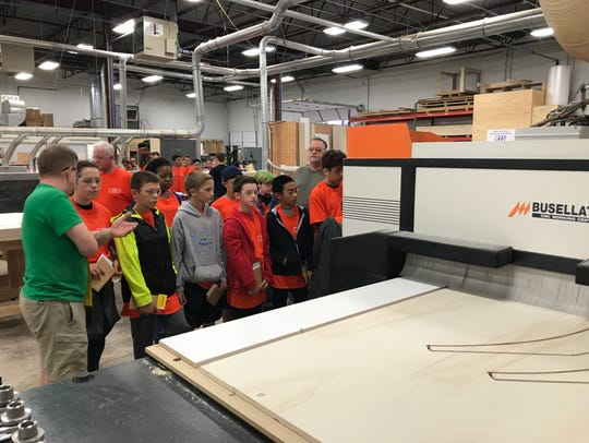Barry Burke demonstrates demonstrates a CNC router