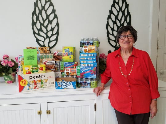 The Woman's Club of Morristown recently donated 166 beverages and 253 healthy snacks for the young clients of Deirdre's House in Morristown. The club's members have been collecting and dropping off these items since March, bringing the total so far to more than 1000 drinks and 900 food items. The club has also collected school supplies and made blue awareness ribbon pins for a Deirdre's House   event.     Their support of Deirdre's House complements the 2016-2018 Special   State Project of the New Jersey State Federation of Women's Clubs of GFWC,   Prevent Child Abuse New Jersey. Deirdre's House in Morristown serves child victims of abuse and/or neglect and children who have witnessed domestic violence.     Woman's Club of Morristown Special State Project chairwoman Mary   Ann Motiuk poses with the more than 400 snacks and beverages recently   donated to Deirdre's House, the Morristown-based facility for child   victims of abuse and/or neglect and children who have witnessed domestic   violence.
