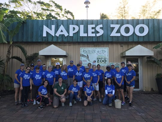 Blue Zones Project volunteers helped clean up the Naples Zoo after Hurricane Irma hit Sept. 10, 2017.