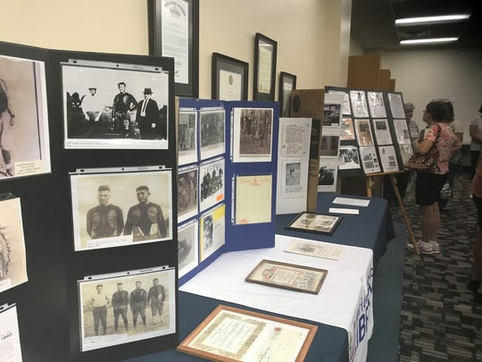 LaRue historian Jim Anderson displayed some of his