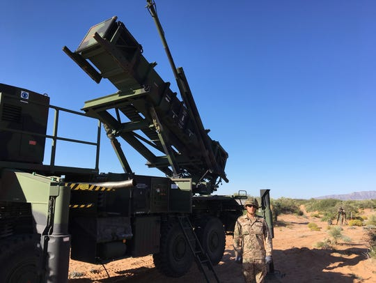 A Patriot launcher is ready to go during a recent training
