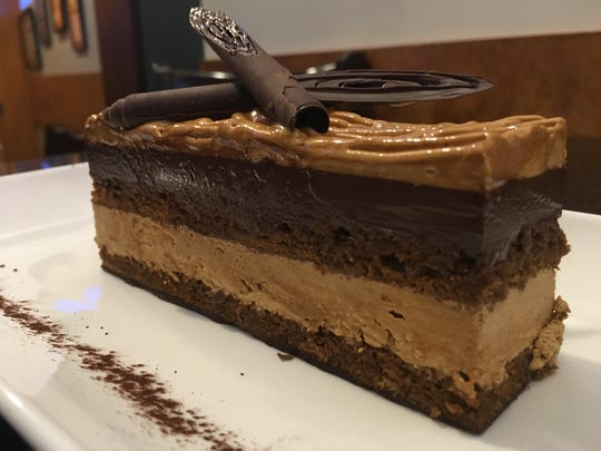 Opera cake at Interim Restaurant & Bar