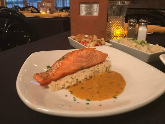 Palmer's Steakhouses's pan-seared ora king salmon is
