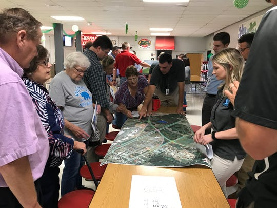 South Carolina DOT officials shared plans of highway changes with about 50 Williamston area residents Tuesday night.