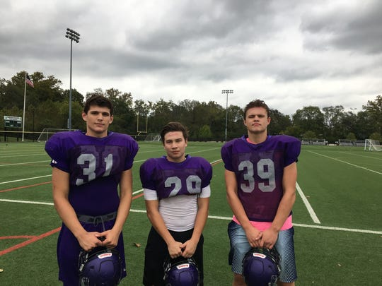 A trio of MVCA's two-way terrors are from left, Caleb Lusby, Seth Henderson and Joe Lusby.