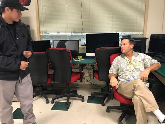 Peter Hansen, a media arts teacher at Sonoma High School,