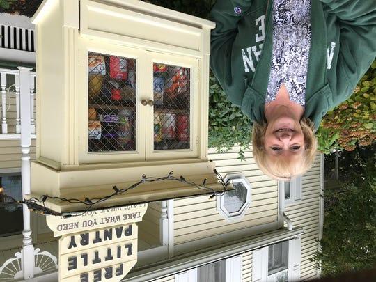 Kimberlee Klatt in October with the free-standing food